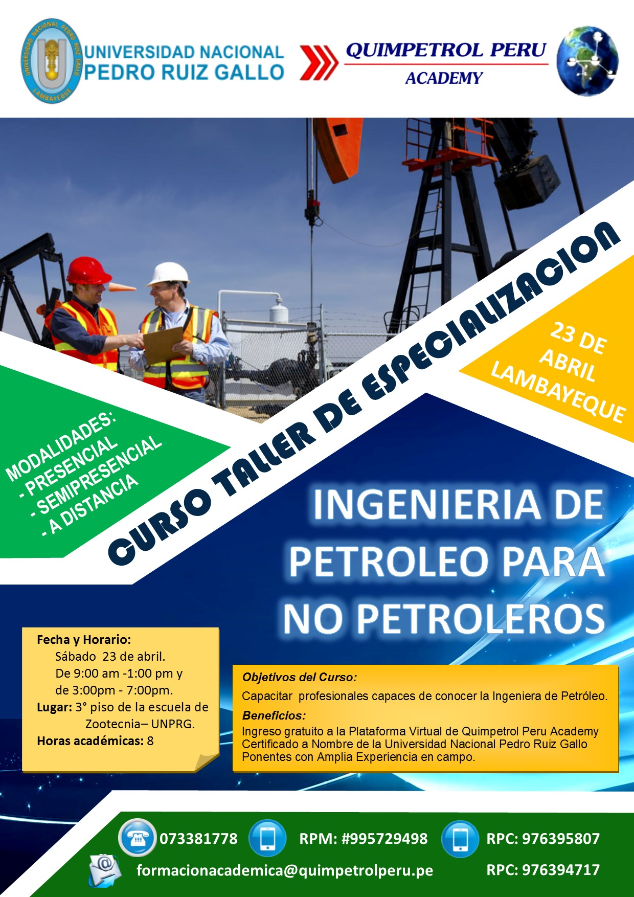 Curso Taller: Desafíos en a Industria Petrolera