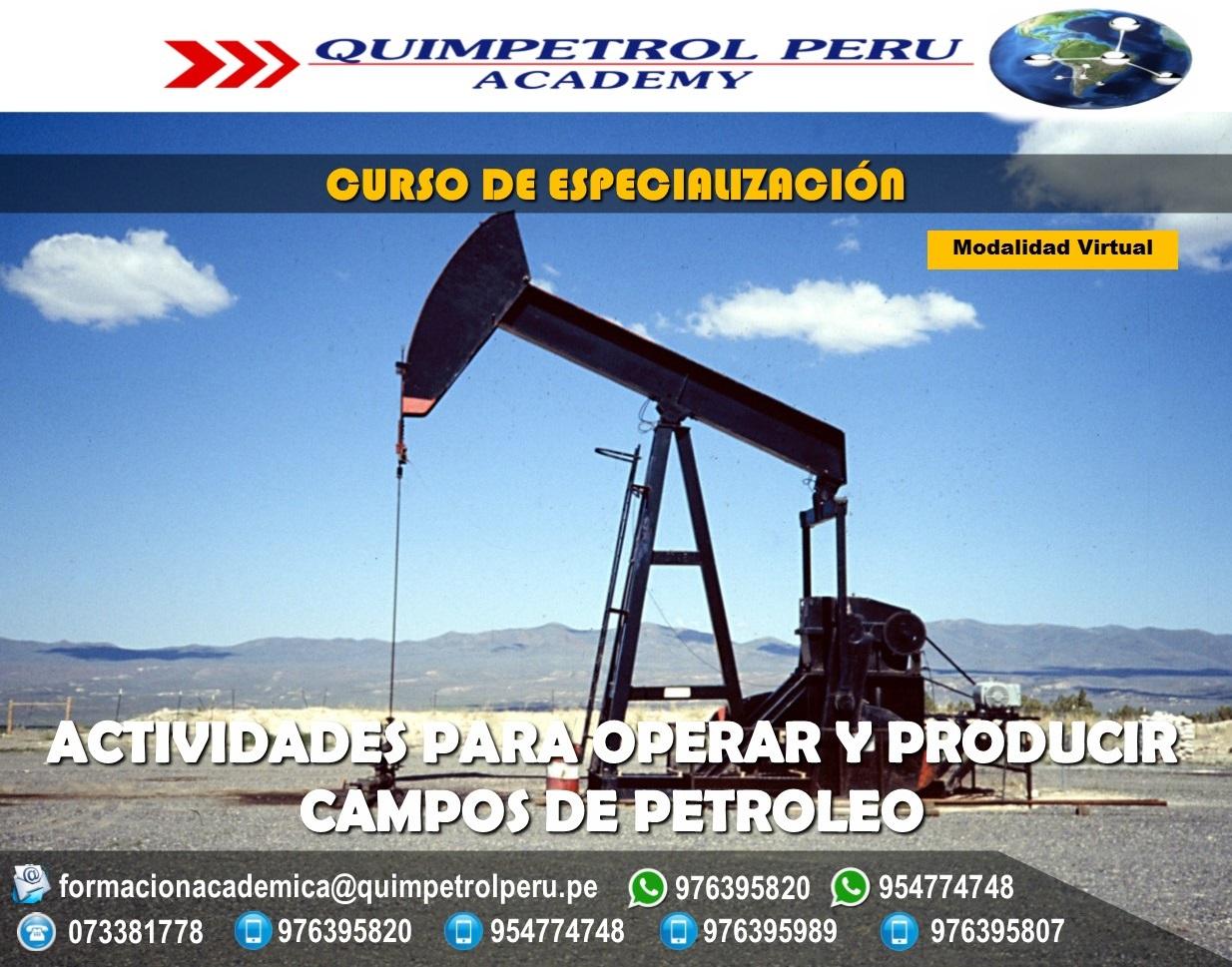 Curso de especialización: Actividades para operar y producir en Campos de Petróleo