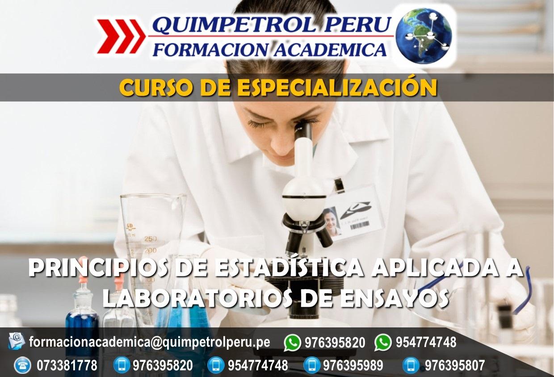 Curso: Especializacion en Principios de estadística aplicada a laboratorios