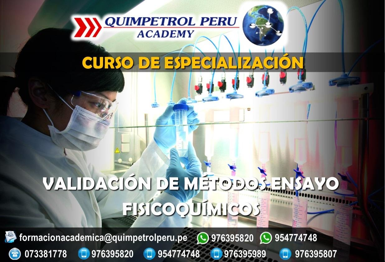 Curso de Especialización: Validación de Métodos - Ensayo Físico Químicos