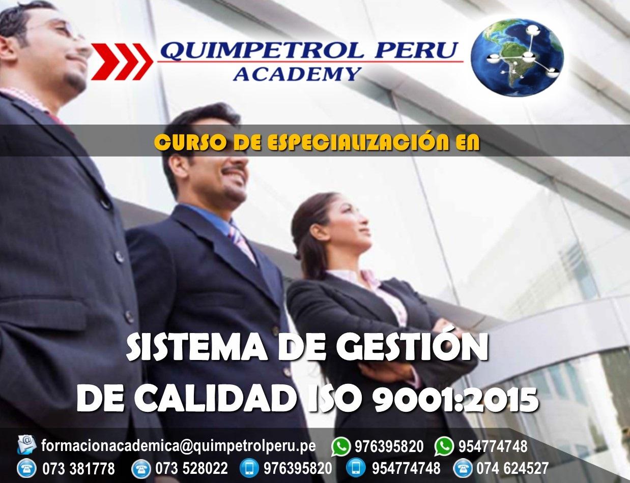 Curso de Especialización: Sistema de Gestión de Calidad ISO 9001:2015