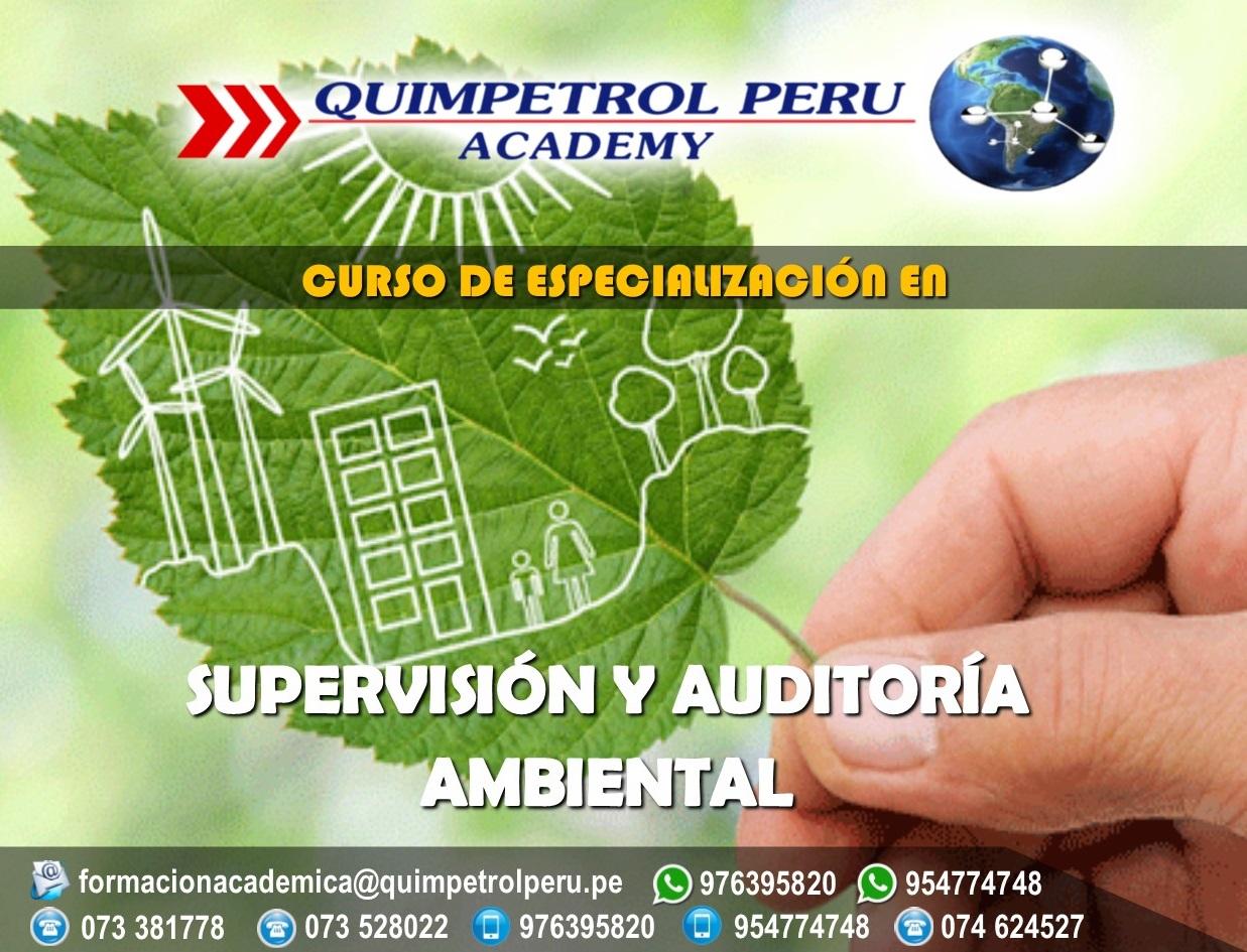 Cursos de Especialización: Supervisión y Auditoria Ambiental