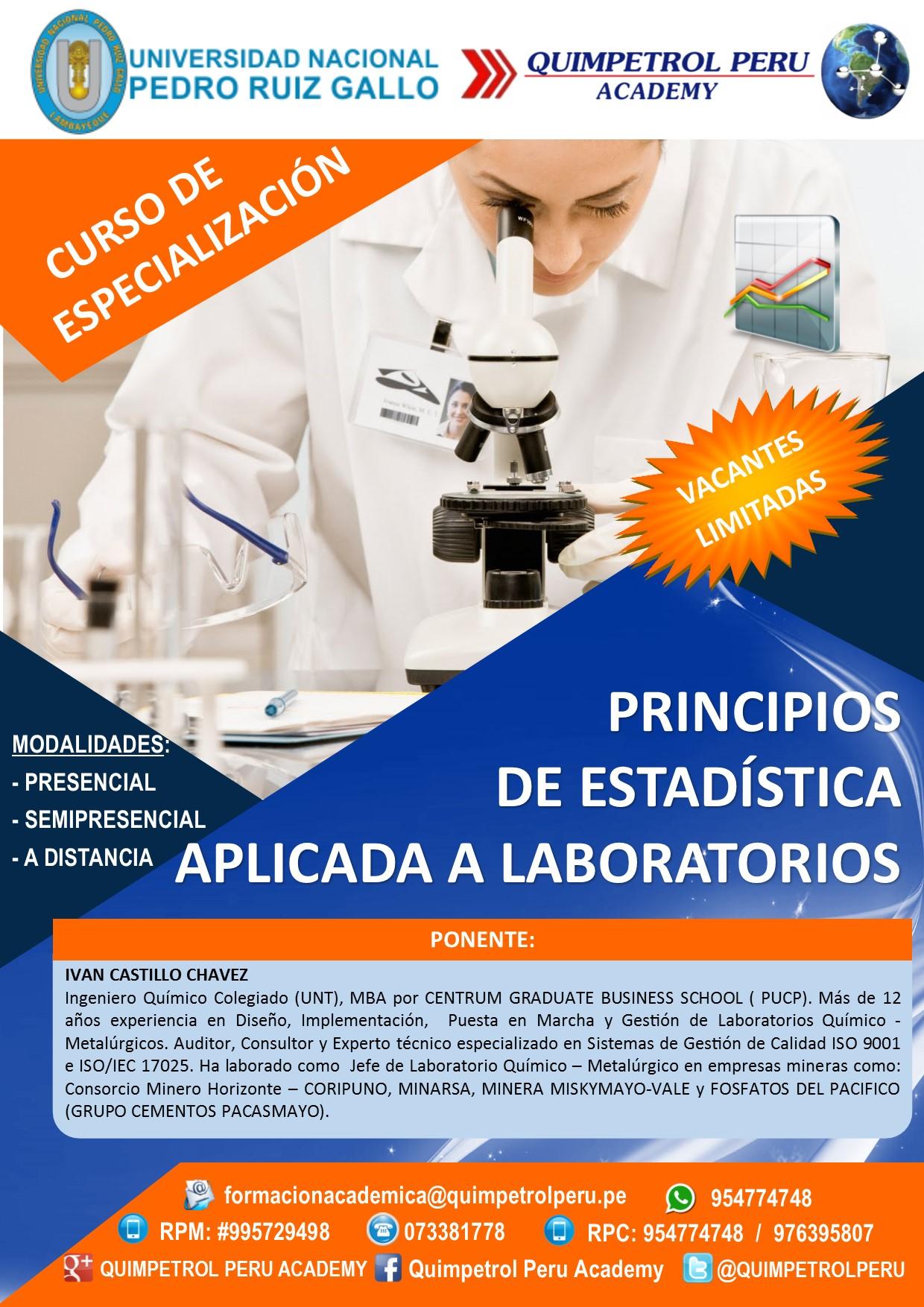 Curso de Especialización: Estadística Aplicada a Laboratorios