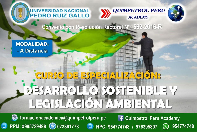 Curso de Especialización: Desarrollo Sostenible y Legislación Ambiental