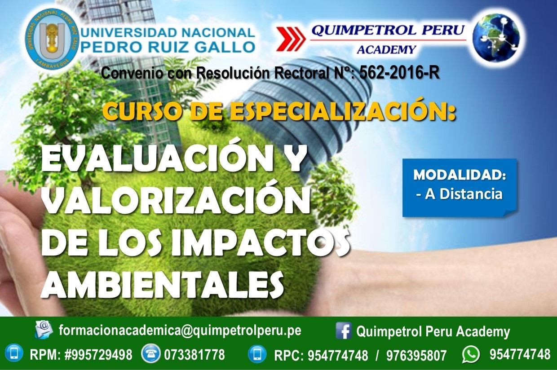 Curso de Especialización: Evaluación y Valorización de los Impactos Ambientales