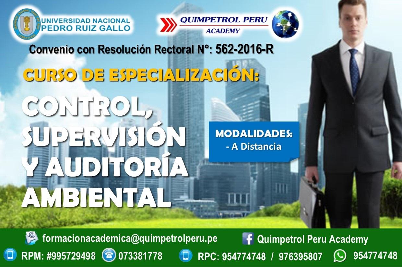 Curso de Especialización: Control, Supervisión y Auditoría Ambiental